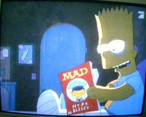 Bild von Bart, wie er MAD liest