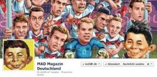 Facebook Seite des deutschen MAD Magazins