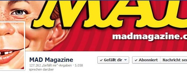 Social Media und das MAD Magazin: Official MAD Magazine Facebook Page