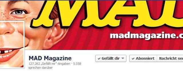 Social Media und das MAD Magazin: Official MAD Magazine Facebook Page