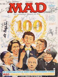 Signiertes MAD Magazin Nummer 100