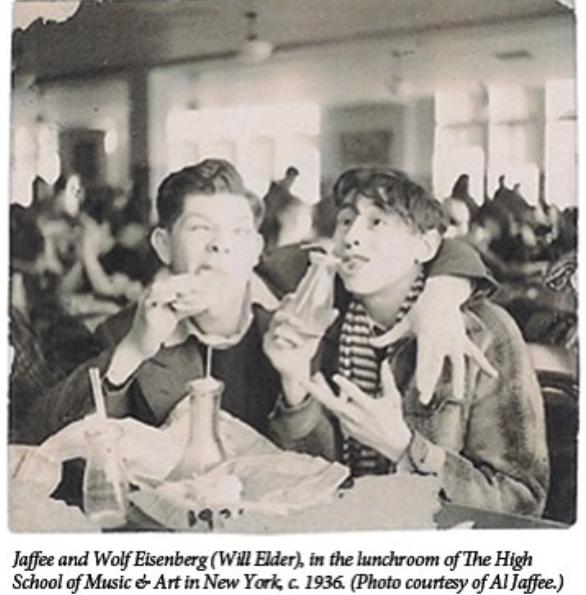 Al Jaffee und Will Elder gemeinsam auf der School of Arts New York im Jahre 1936
