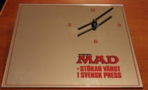 Bild von der schwedischen MAD Wanduhr