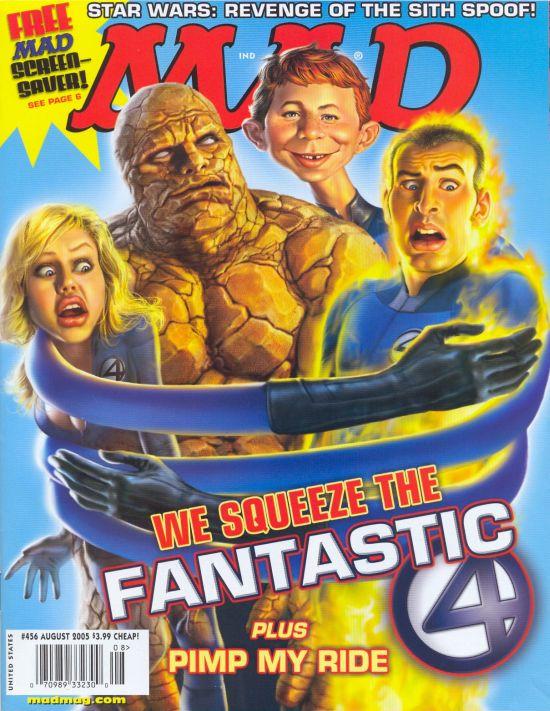 Der Aufstieg der Comics als Kunst - US MAD Magazin Nummer 456 mit den Fantastic Four