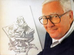 Jack Davis mit einem Selbstportrait