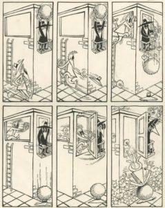 Früher Spy vs Spy Cartoon von Antonio Prohias aus dem US MAD Magazin